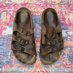 Birkenstock brown Florida soft footbed sandals